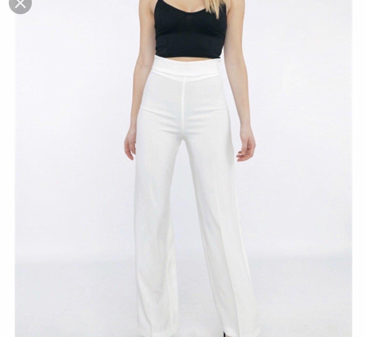 vita bootcut kostymbyxor