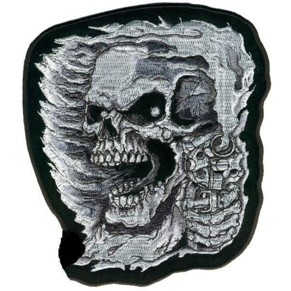 Assassin Skull Smal Patch Brodyrmärke.