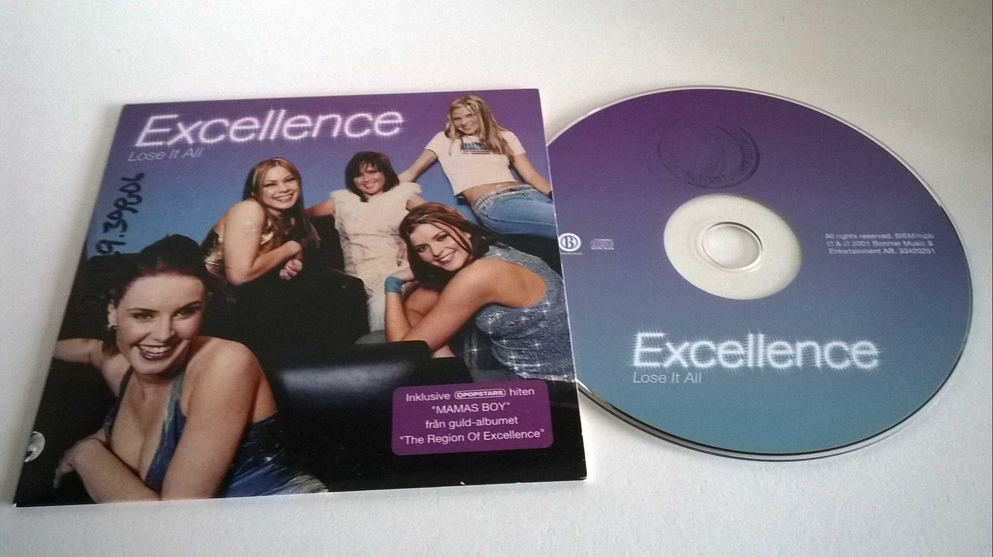 Excellence - Lose it all, single CD, promo stämplad