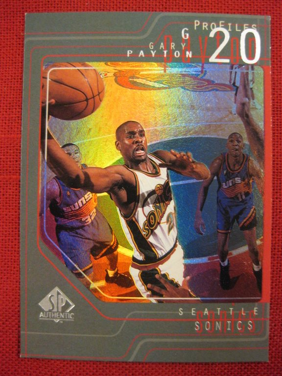 GARY PAYTON - PROFILES - 1997-98 SP AUTHENTIC - SEATTLE SONICS - BASKET