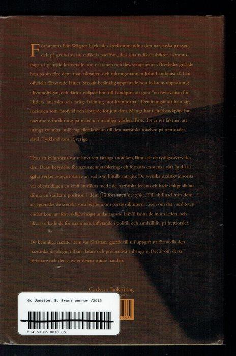 Bruna pennor -Nazistiska motiv i svenska svenska svenska kvinnors litteratur 878060