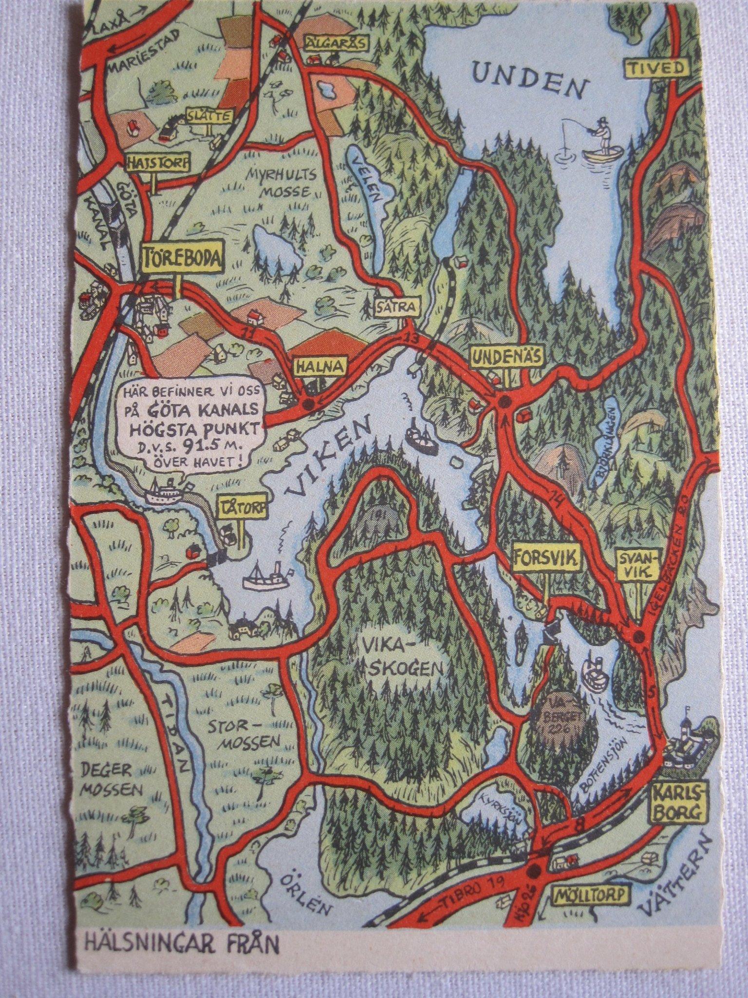 Kart Kort Nr 60 Toreboda Karlsborg Gota Kanal S 392963692 ᐈ