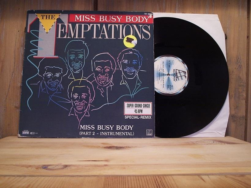 THE TEMPTATIONS / Miss Busy Body.. + 2 / 12''- 1983 / SOUL