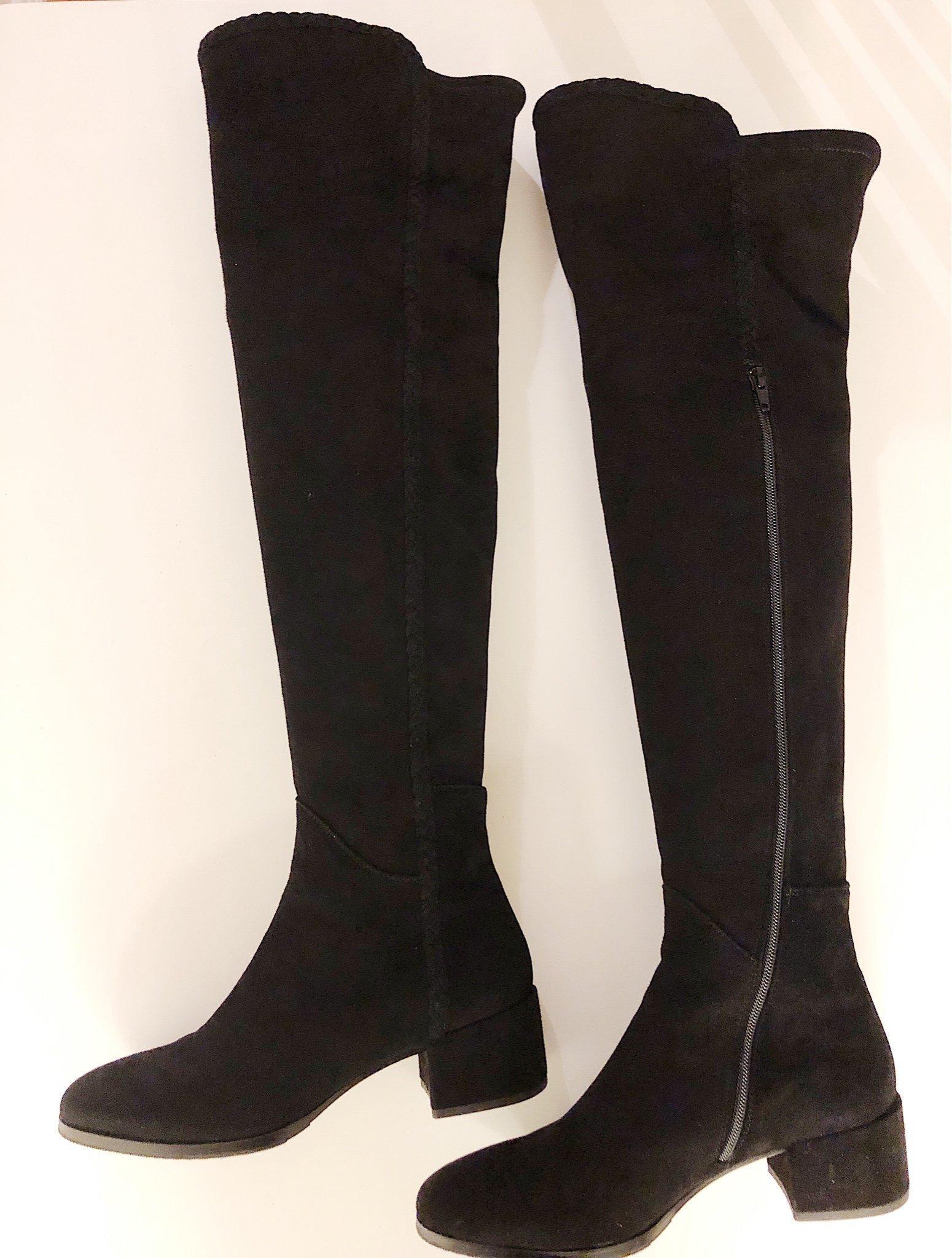 Svarta Over knee stövlar från Marzio storlek 40