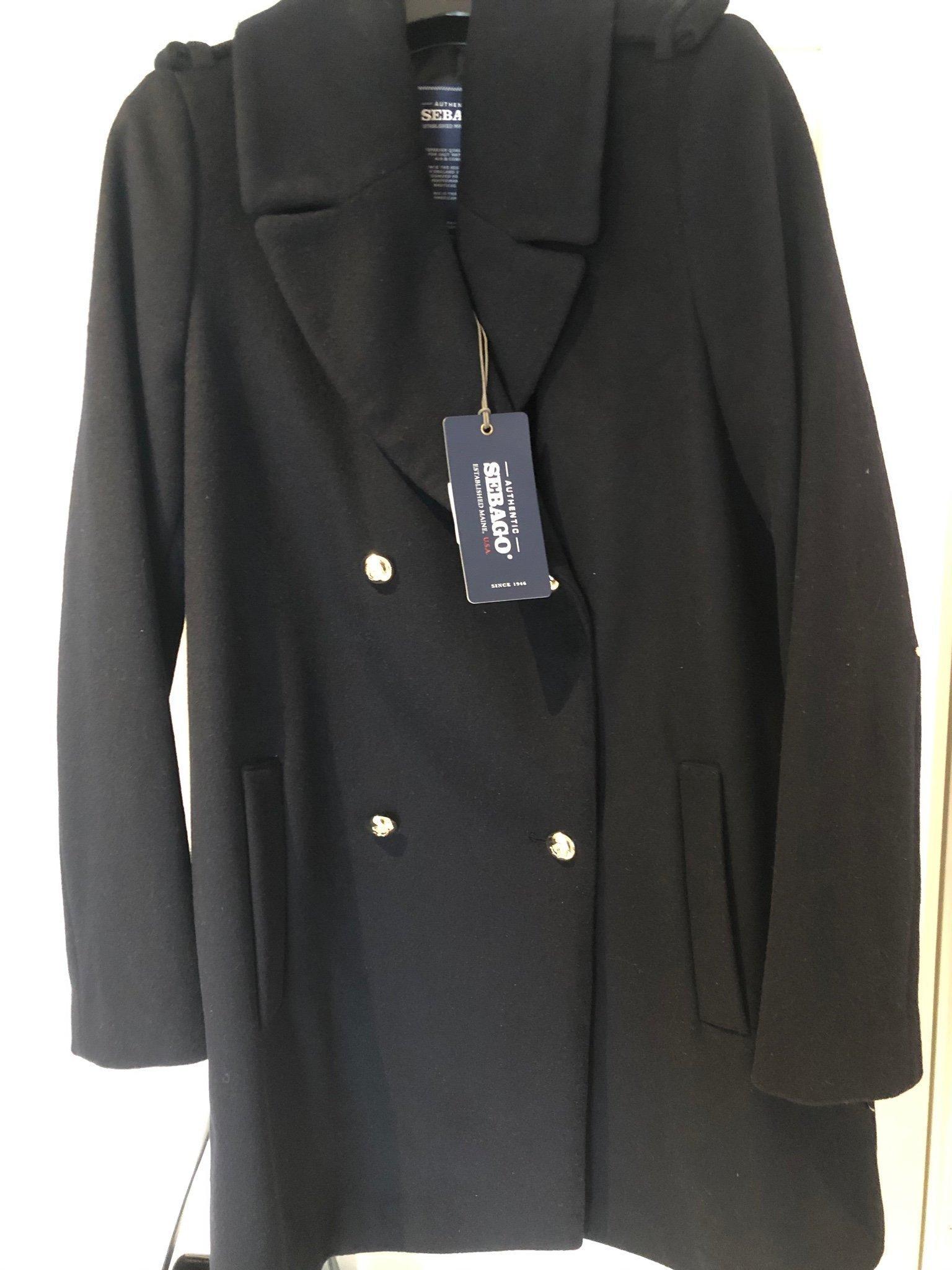 olika design grossistpris stor rea Oanvänd Sebago Pea Coat Navy stl M (388992961) ᐈ Köp på Tradera