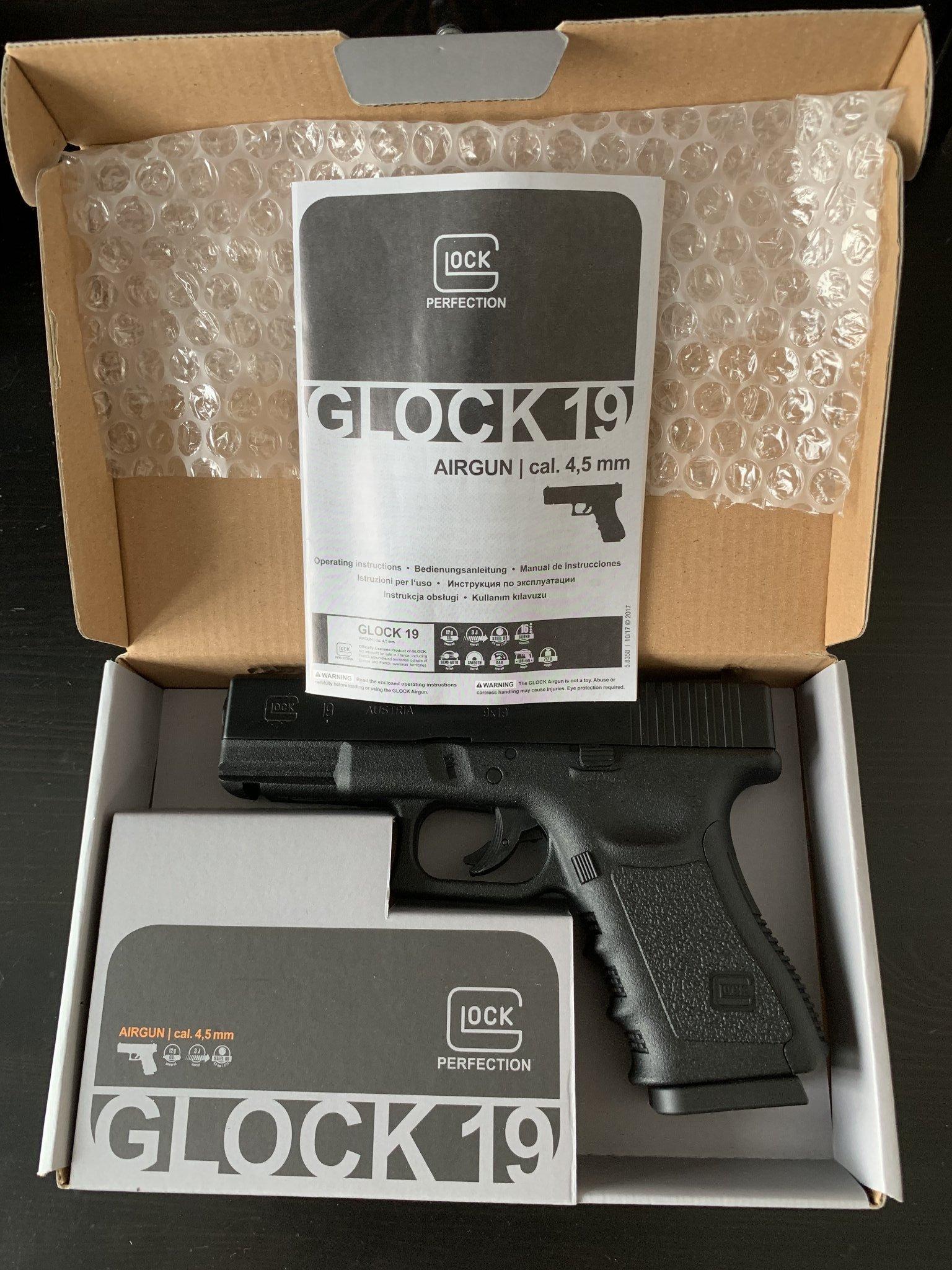 GLOCK 19 4,5mm Co2 Airgun (360781614) ᐈ Köp på Tradera