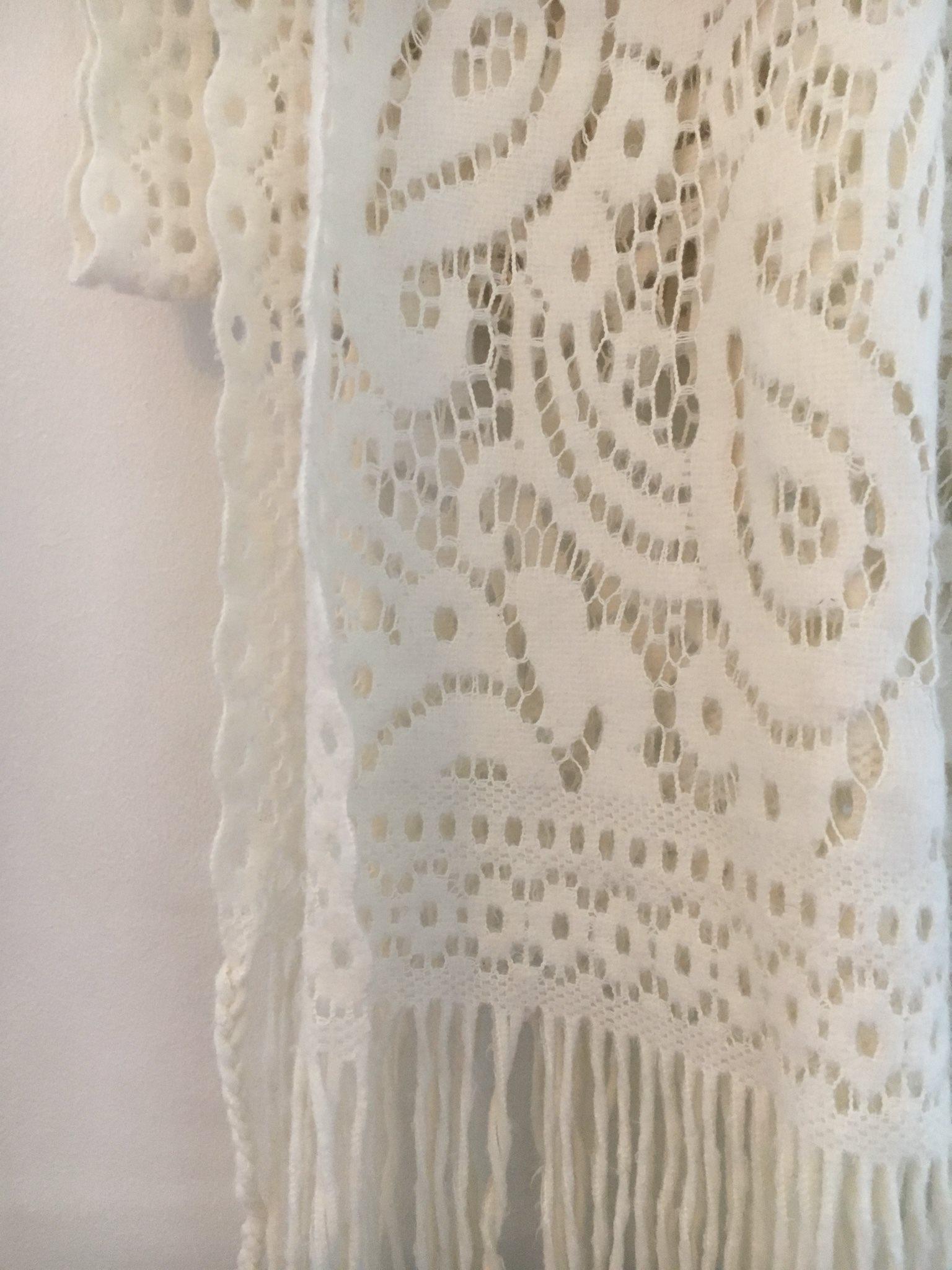 Väldigt fin halsduk   sjal spets vit (333165821) ᐈ Köp på Tradera 7ca7d2d1fdedc