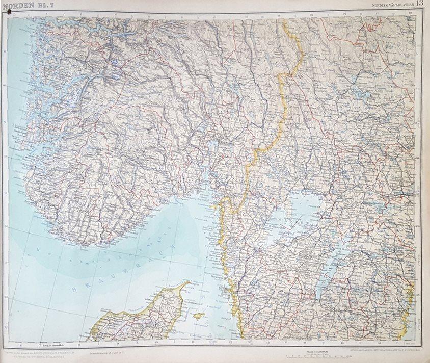 Karta Over Spaniens Vastkust.Antik Karta Over Norge Sverige Vastkusten Fra 338829374 ᐈ Kop