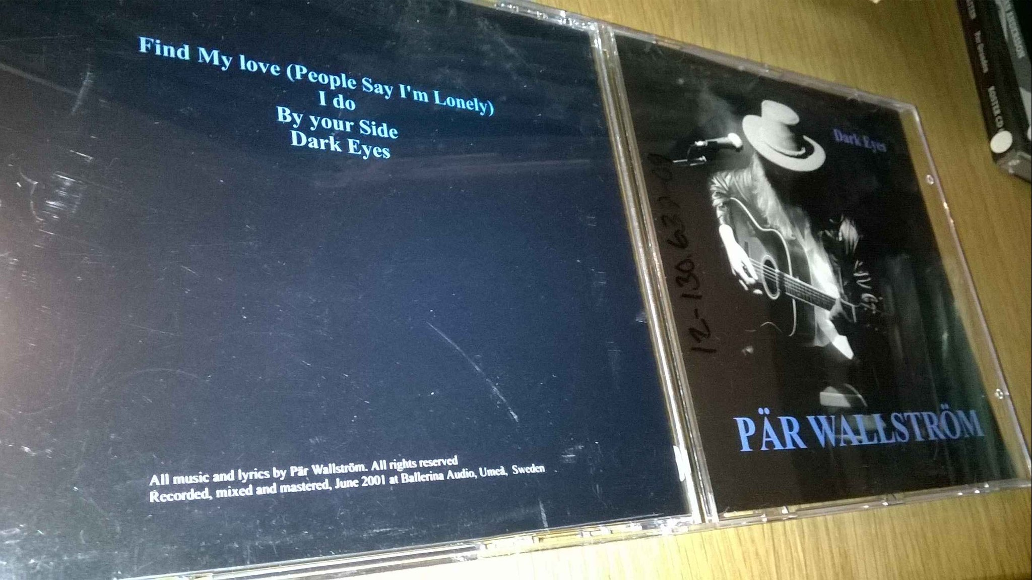 Pär Wallström - Dark Eyes, CD, very rare!