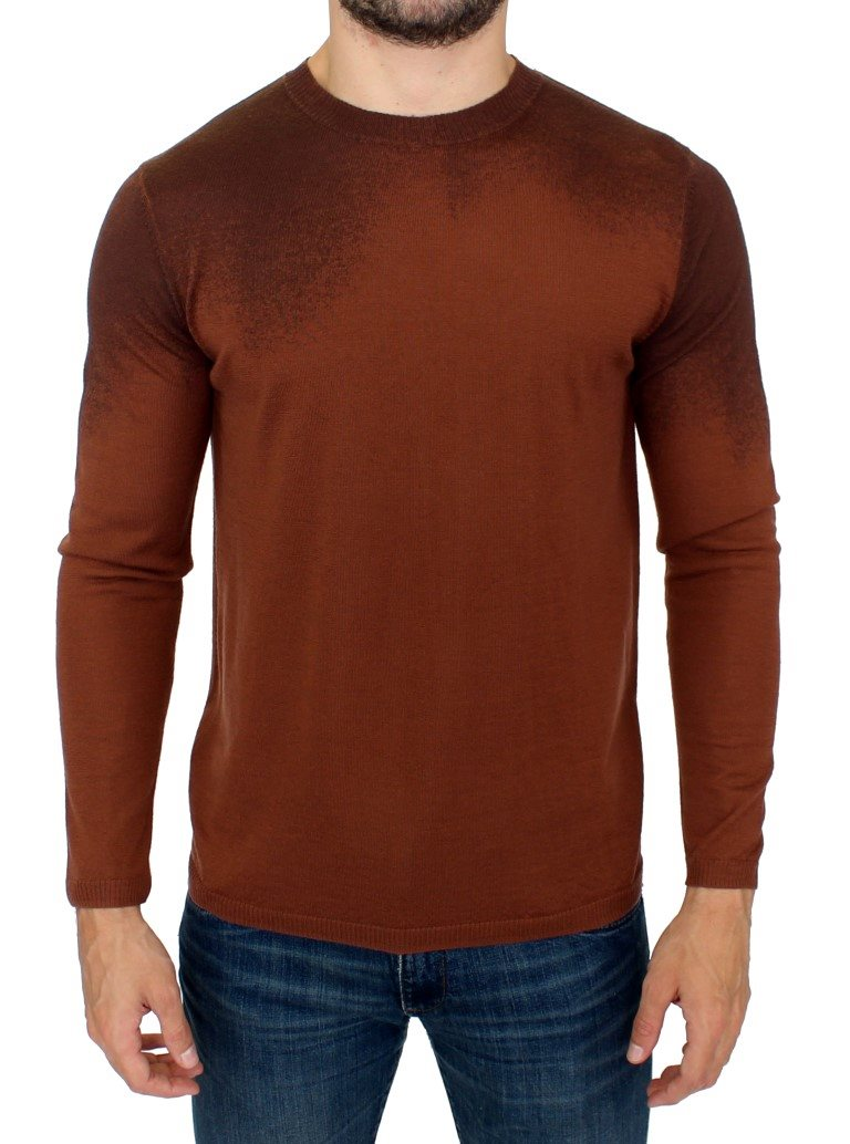 Balmain - Brown wool crewneck sweater