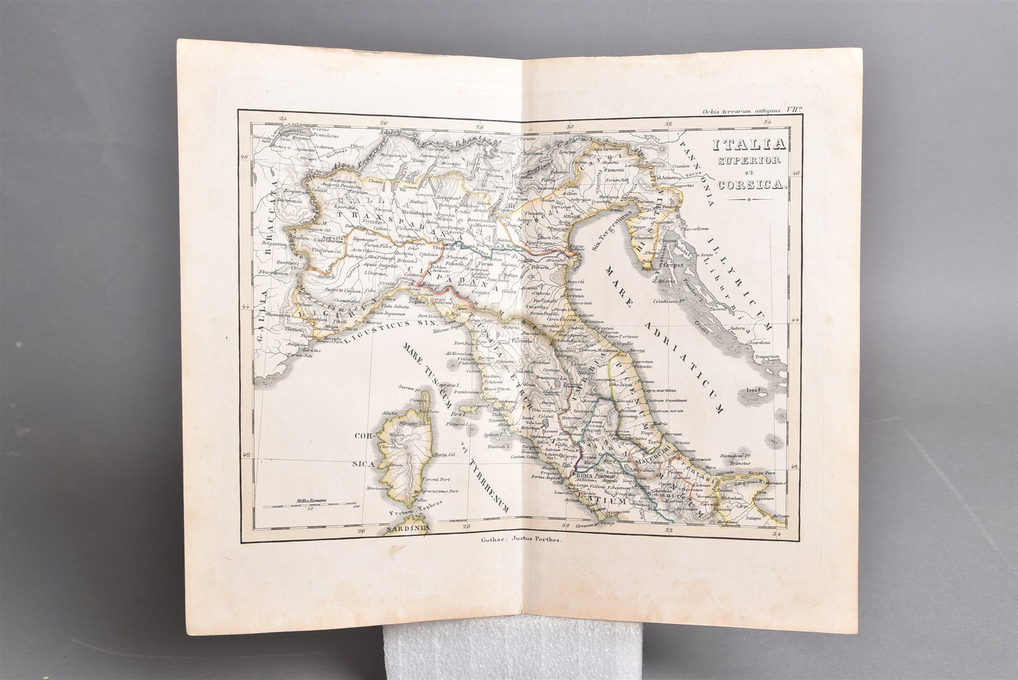Gammal Karta Italien.Gammal Karta Ca 1852 Norra Italien Korsika 338928474 ᐈ Kop