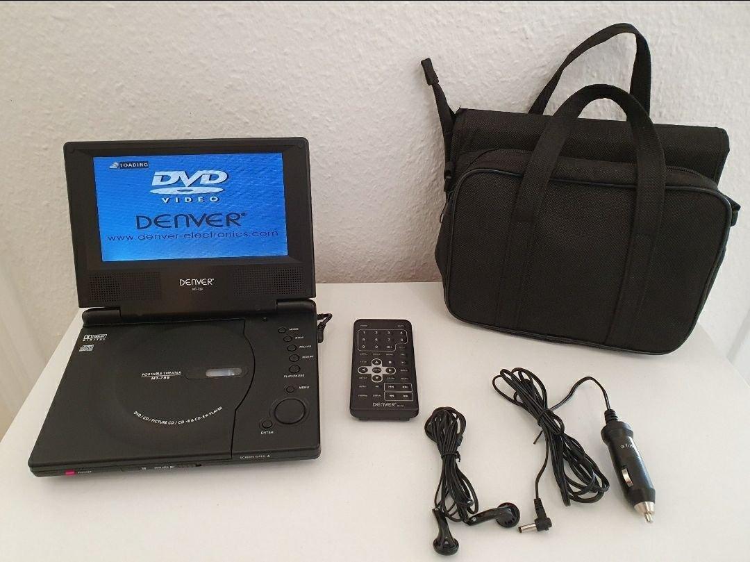 Denver Portabel DVD Spelare MT739 Bärbar med Väska