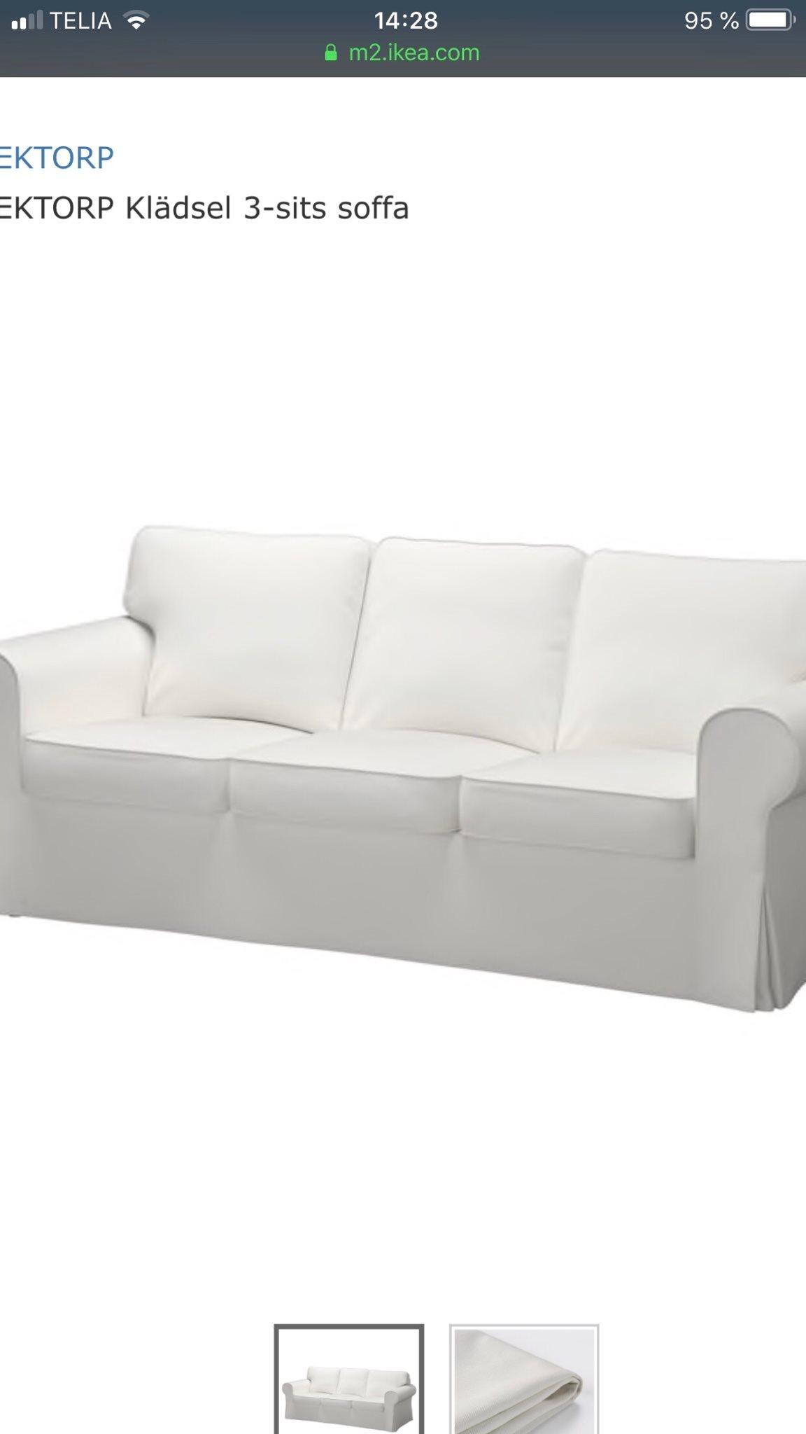 Overdragsklader Ikea Eketorp 3 Sits Helt Ny 325218644 ᐈ Kop