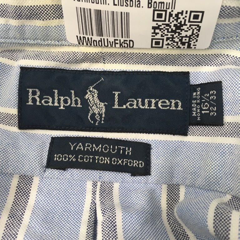 Ralph Lauren, Skjorta, Strl: XL, XL, XL, Yarmouth, Ljusblå, Bomull 801378