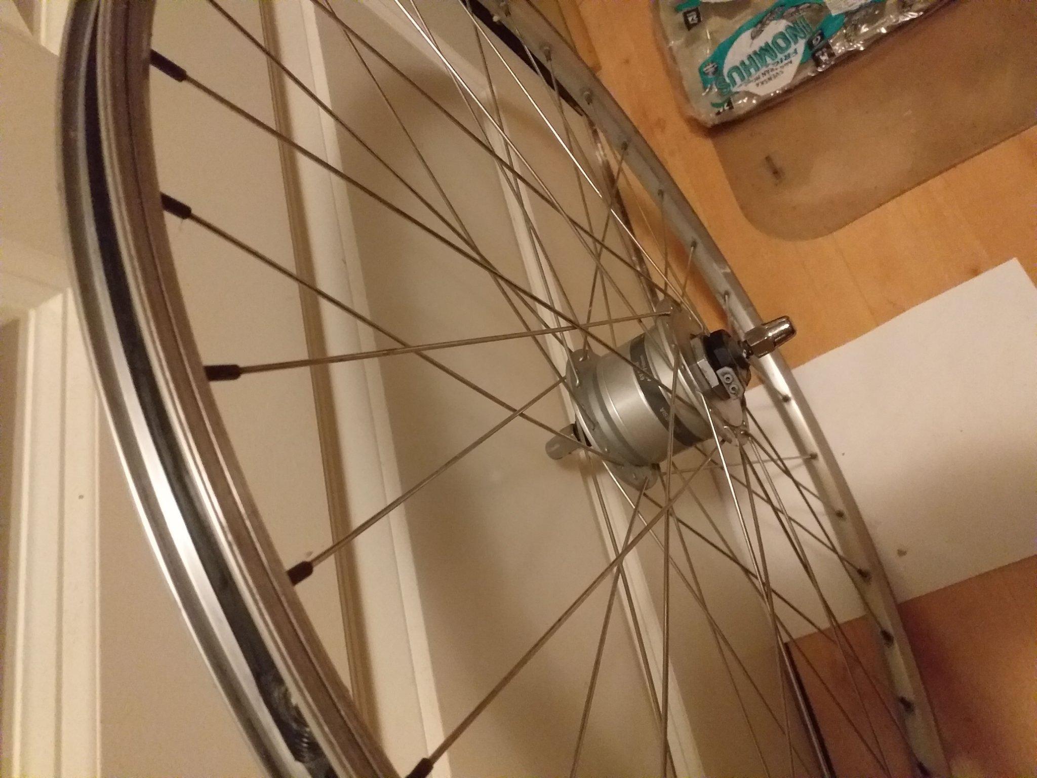framhjul cykel 28 tum