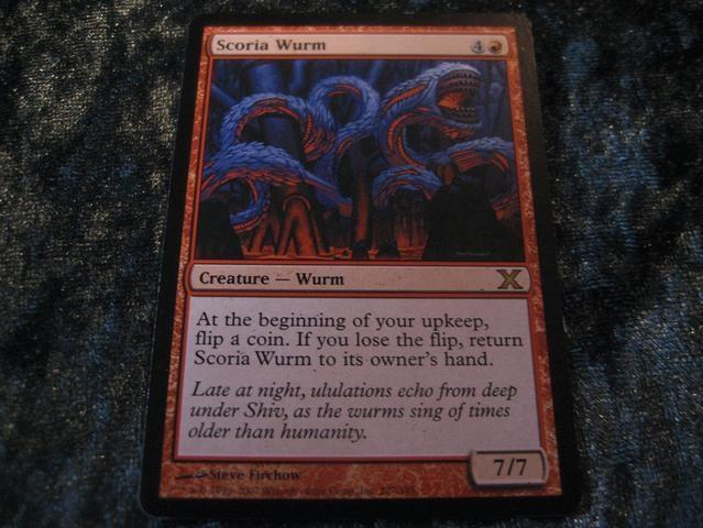 SCORIA WURM RARE (RÖD 10TH EDITION) 7/7 *