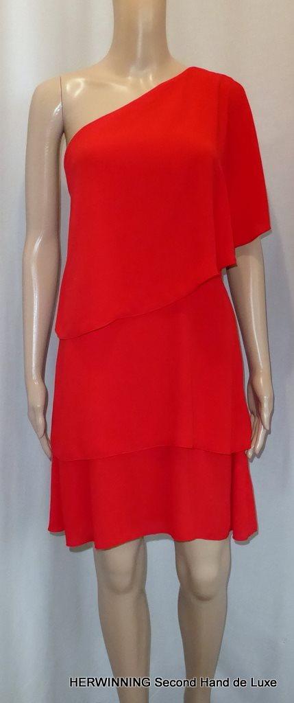NLY ONE 38 40 Festklänning röd volang.. (331629325) ᐈ Herwinning på ... 1d7f35b718b9e