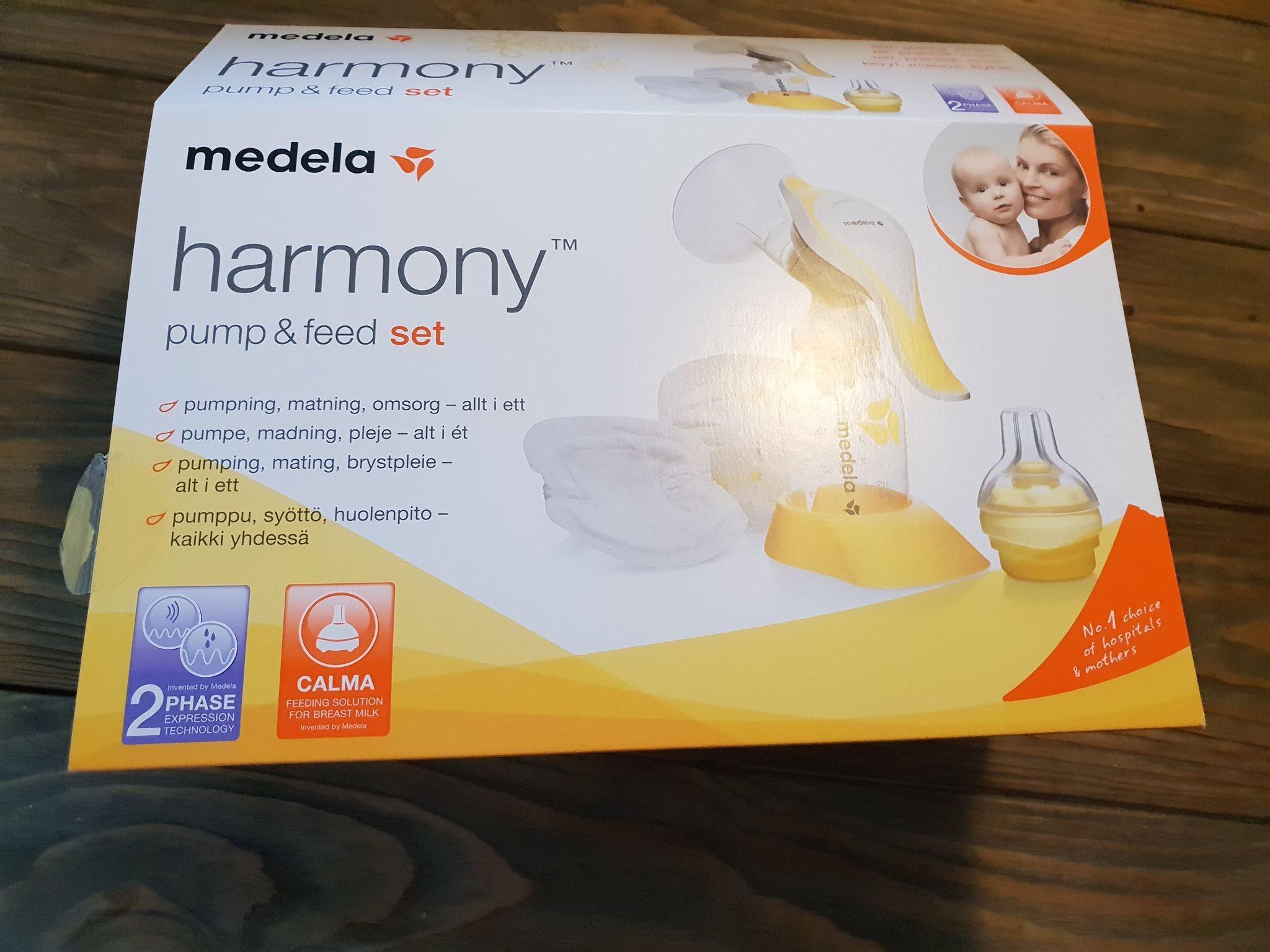 Medela harmony bröstpump med tillbehör som nytt på Tradera.com - Amning 304ffde016939