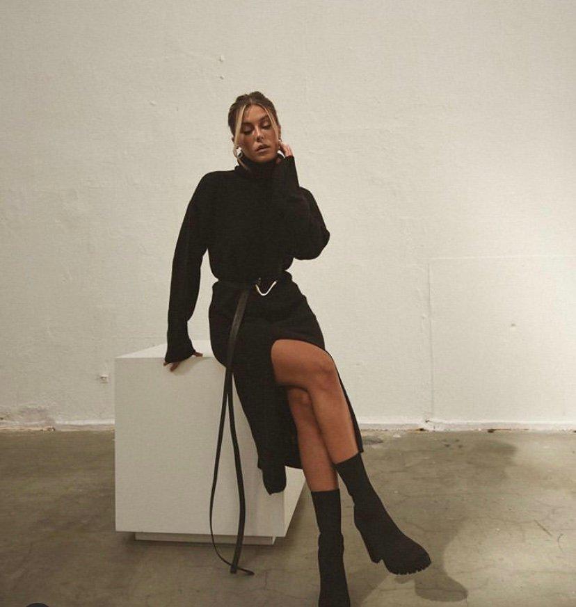 Bianca x Nelly stickad klänning (420508934) ᐈ Köp på Tradera