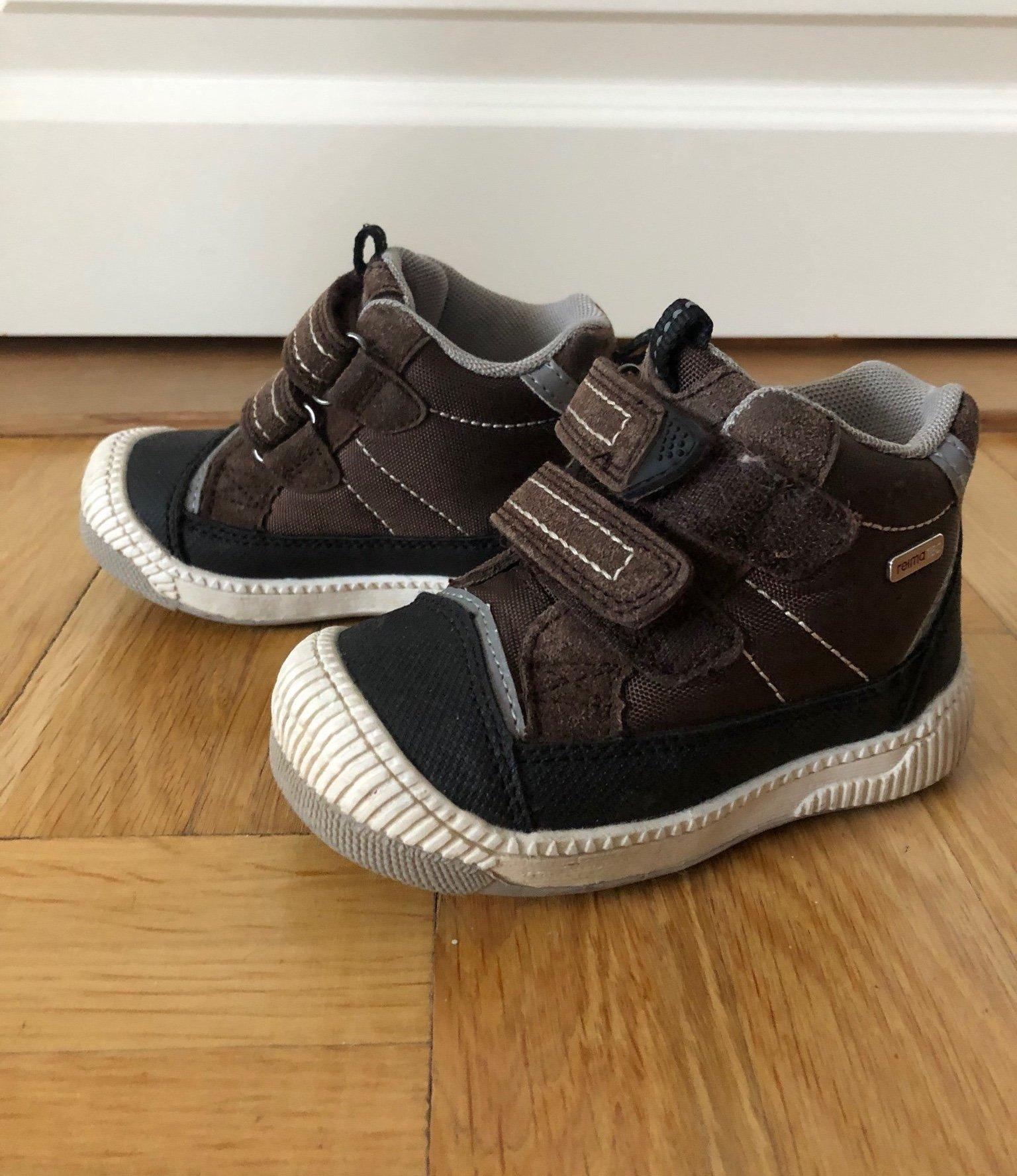 Reima Passo kängorsneakers halvhög modell, bruna, strl 22