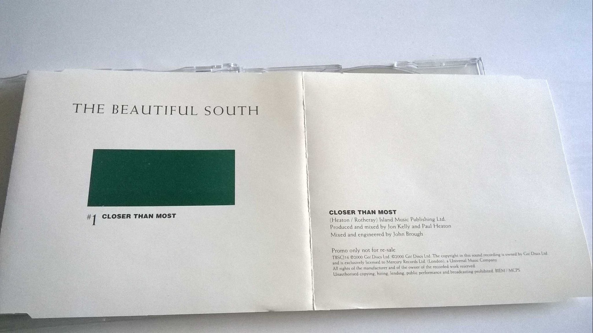 The Beautiful South - Closer Than Most, CD, Single, Promo