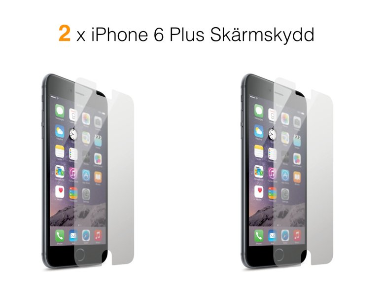 2 x Skärmskydd till iPhone 6S/6 PLUS screenguard