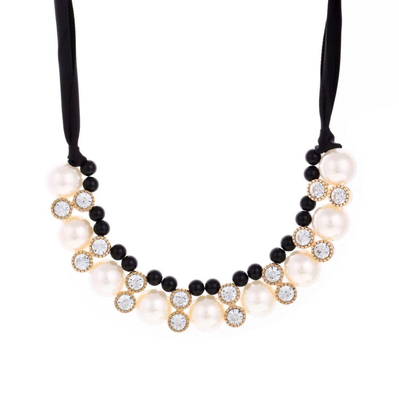 Halsband vita   svarta Pärlor Kristaller (294179318) ᐈ Sustra på ... ac9a3b714a08f