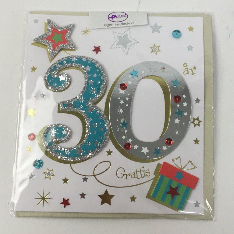 gratulationskort 30 år Pictura, Julkort & Gratulationskort, 30år (316142493) ᐈ Sellpy på  gratulationskort 30 år