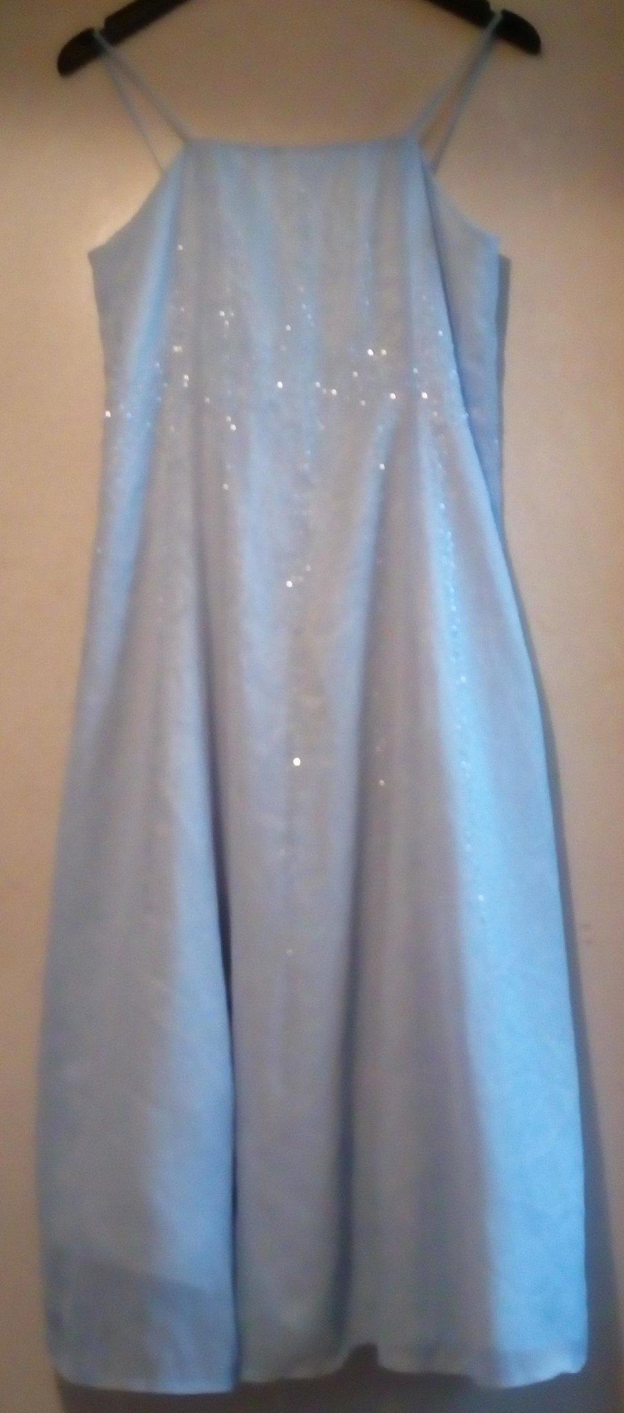 602b4a931d1a Vacker ljusblå bröllop fest bal afton klänning balklänning aftonklänning