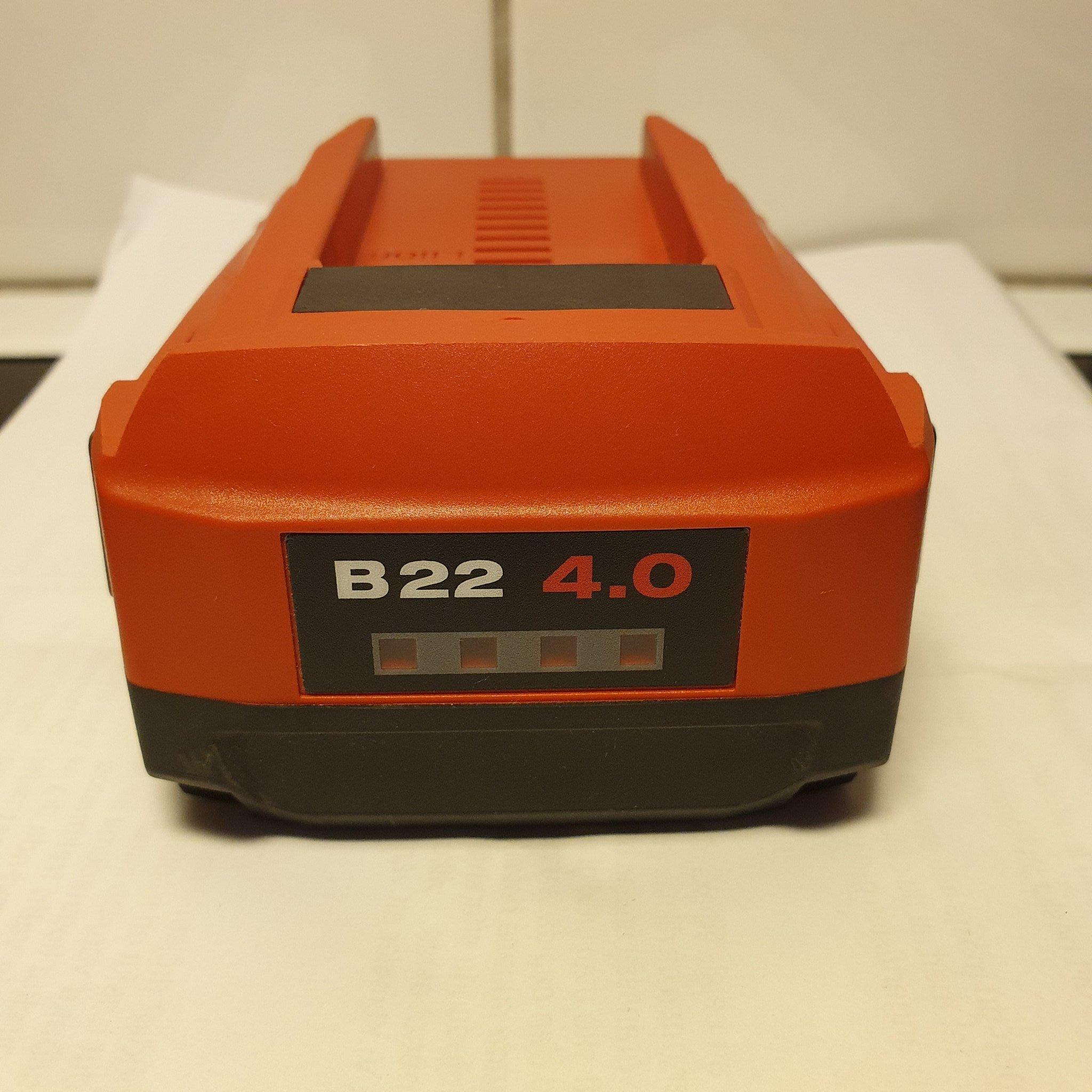 B22 4,0 22V batteri Batterier Hilti Sweden