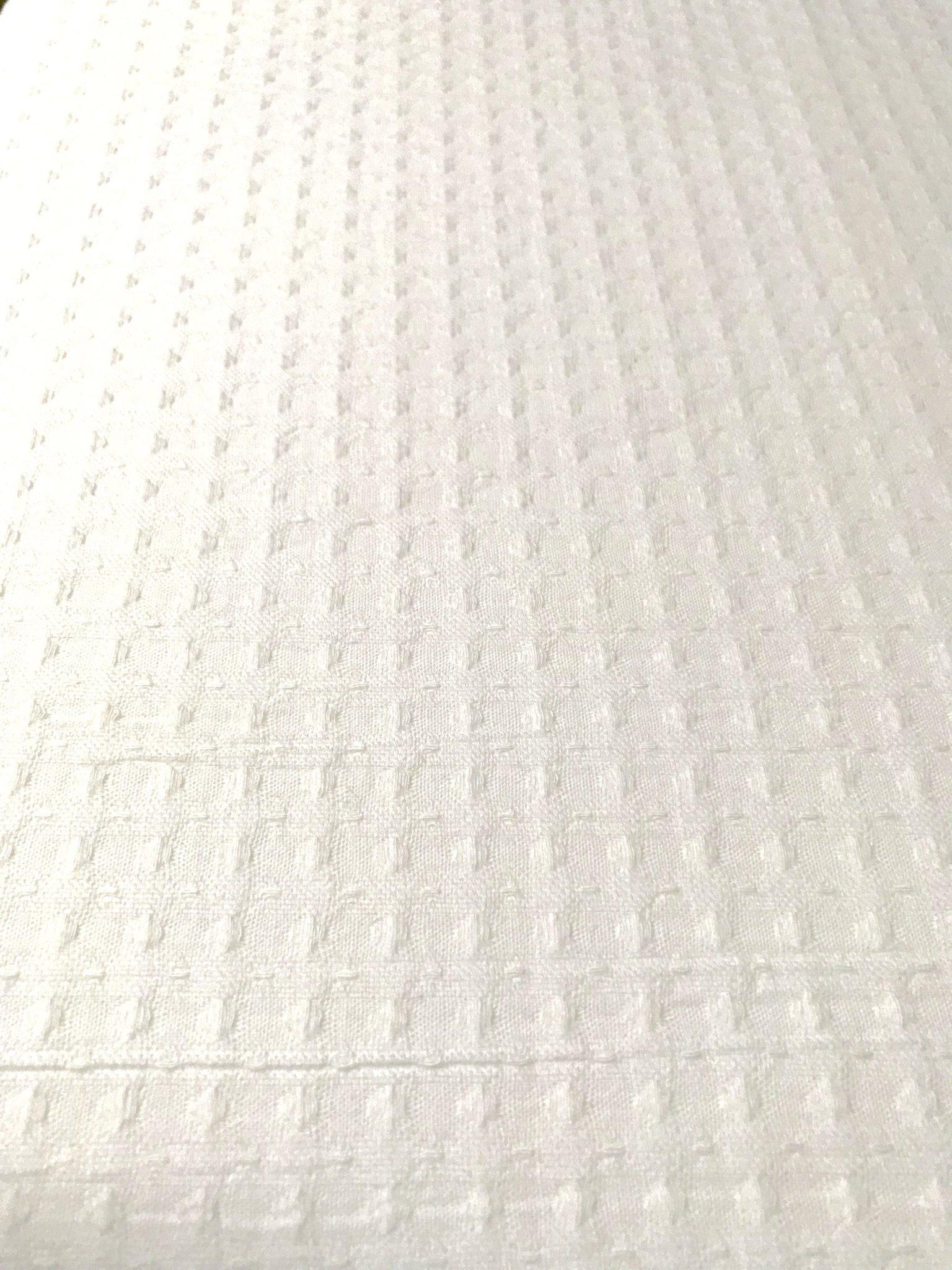 06fe5fd0 Vitt våffel mönstrat tyg 1 m x 140 cm,bomull (351468335) ᐈ Köp på ...