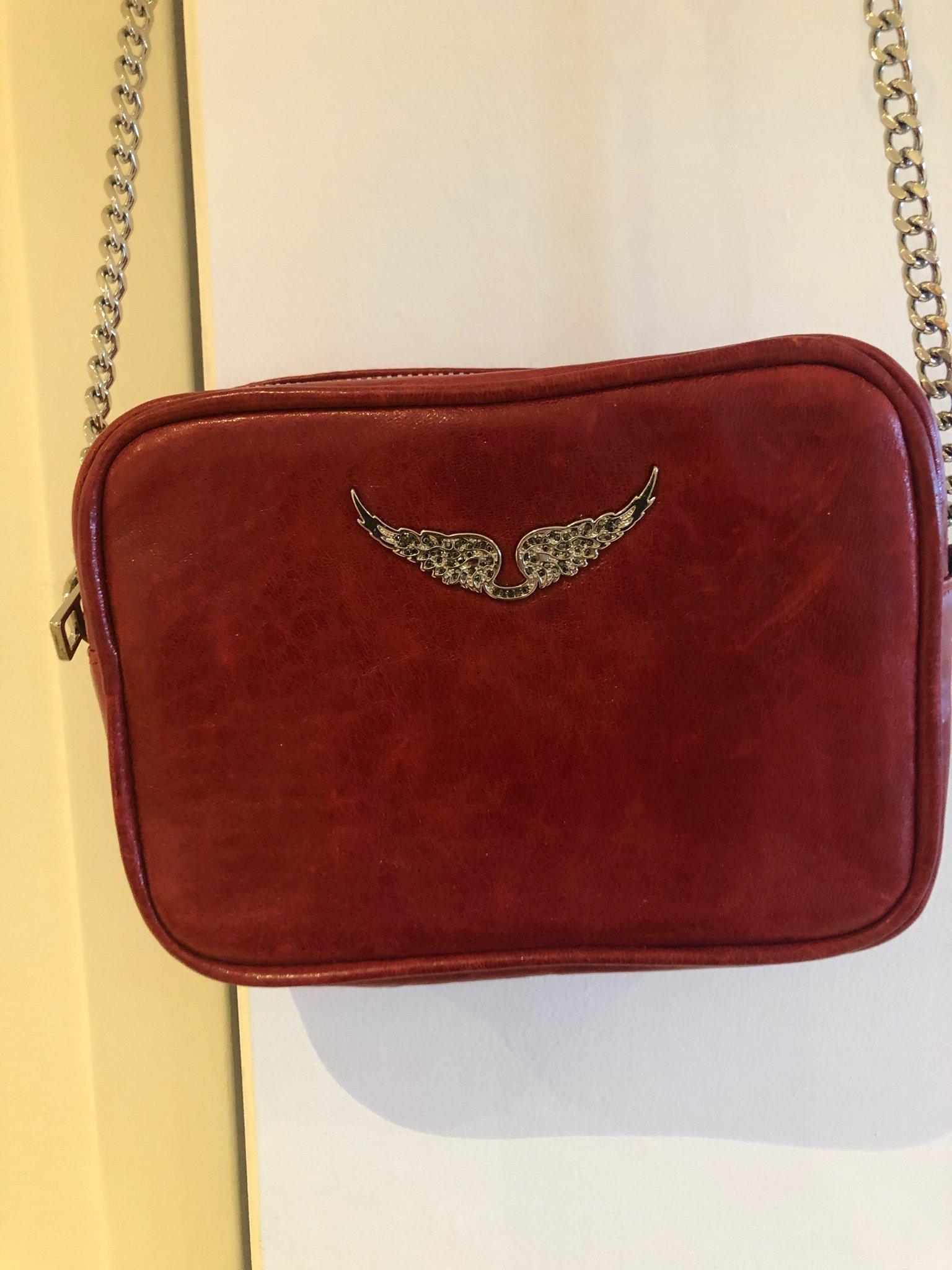 Zadig & Voltaire väska, röd, som ny!