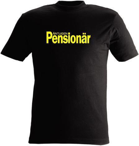 T-SHIRT Äntligen Pensionär nr 38 Svart XXXX-large