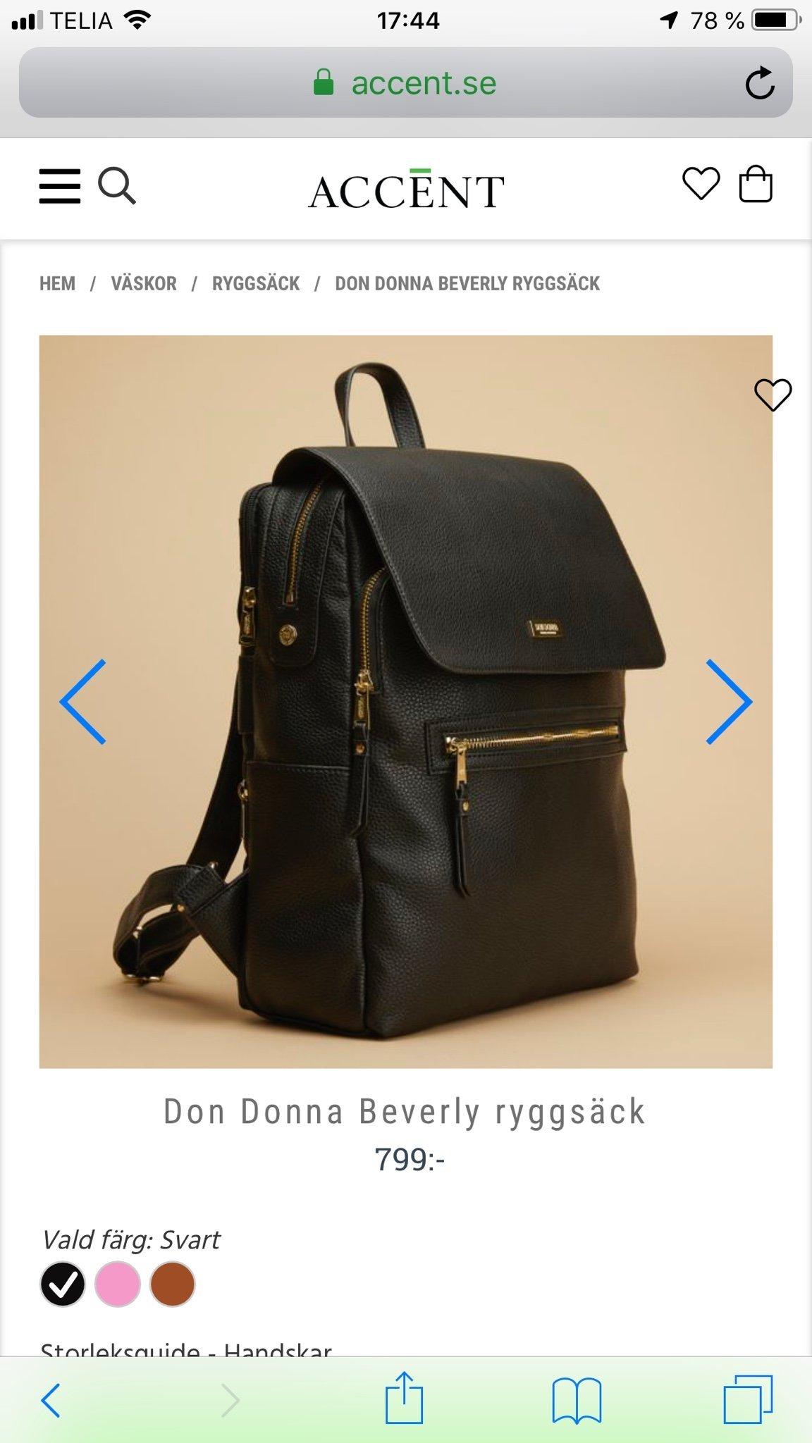 Don Donna Beverly ryggsäck, Mörkblå