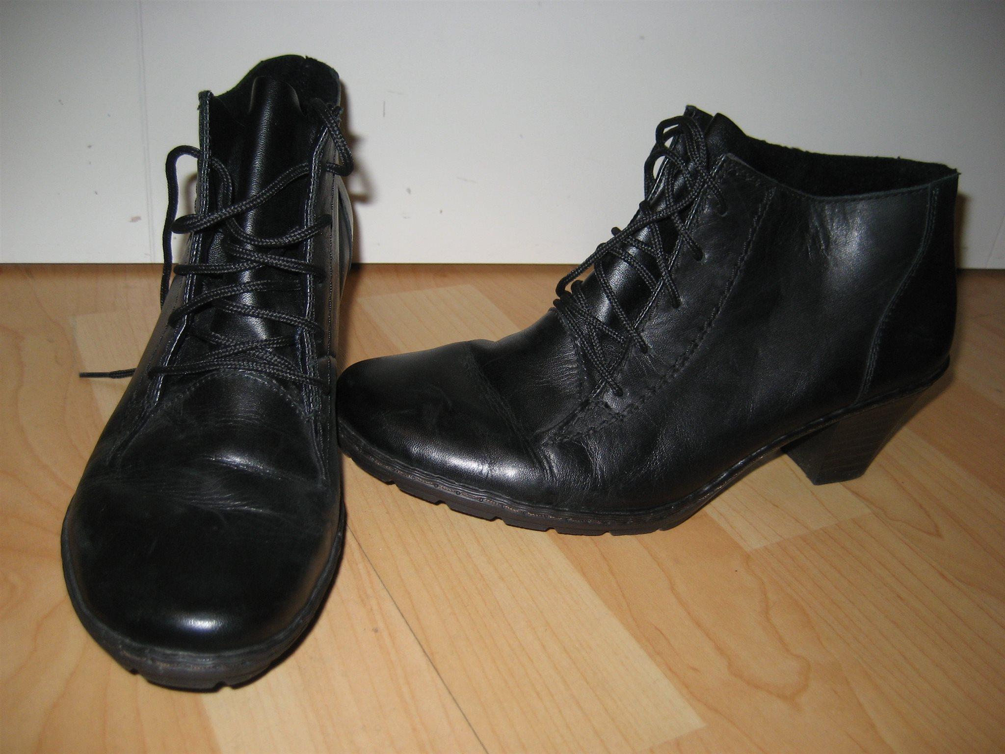 Rieker svarta snörkängor stl 37 skor äkta skinn.. (335660333) ᐈ Köp ... 50b539a300643