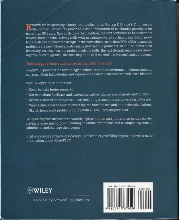Engineering Mechanics: Mechanics: Mechanics: Statics. Sixth edition d4b3a4