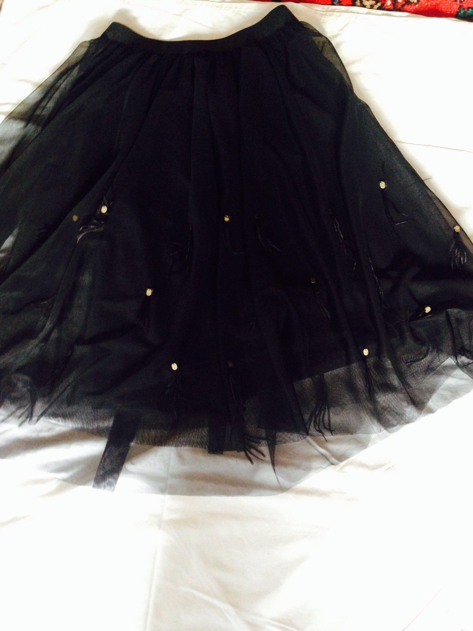 Helt underbar ny kolsvart kjol stl M  fynda