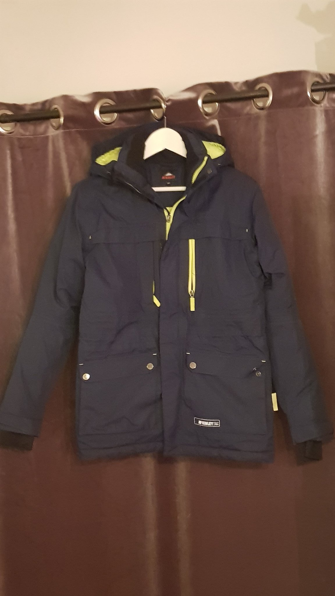 Ny blå McKinley jacka jacket lättviktsjacka Barn JR 164