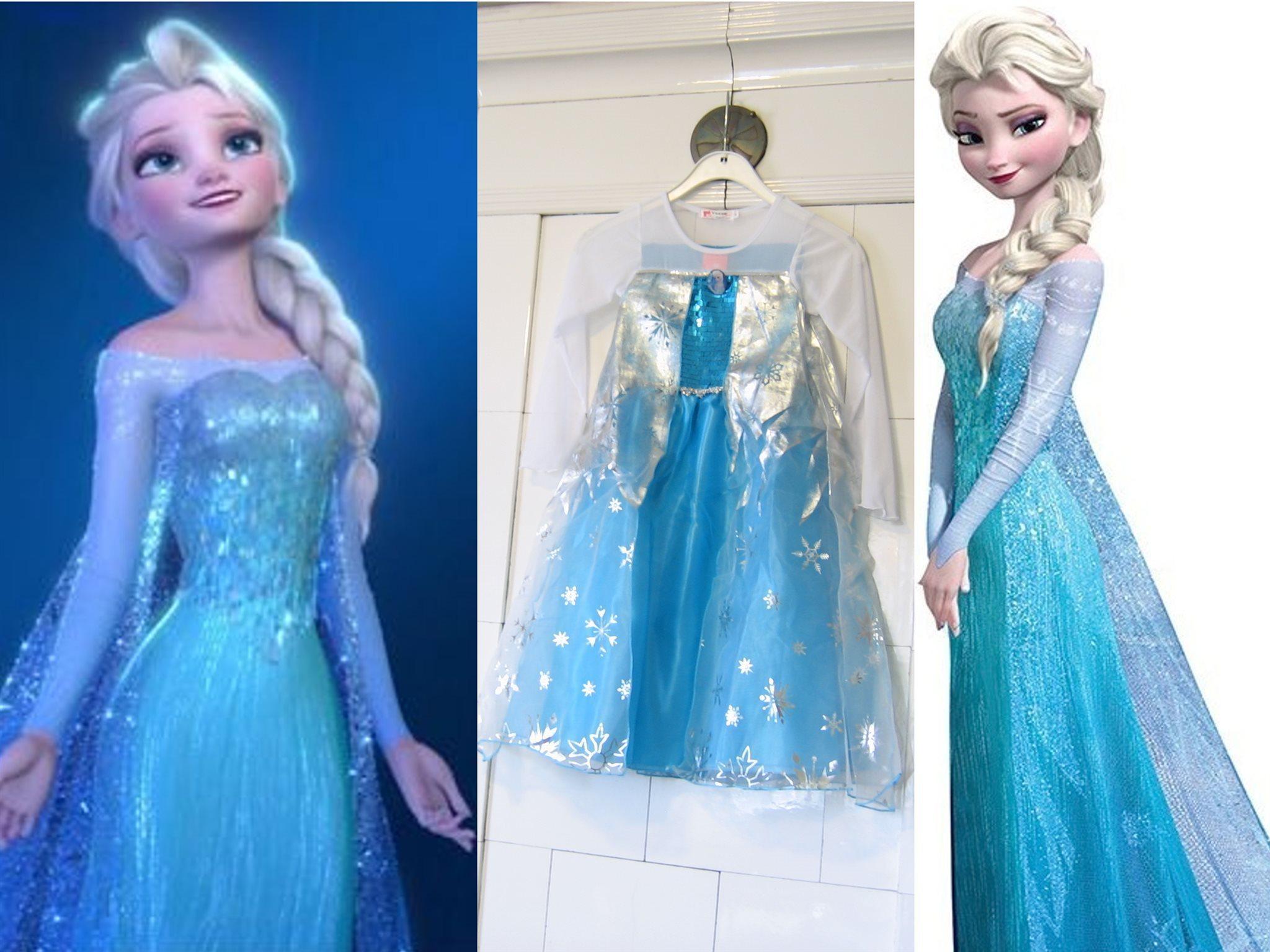 Frost Frozen Elsa klänning storlek ca 120 NY! Omgående leverans från  Sverige! 5ea7878c6806a