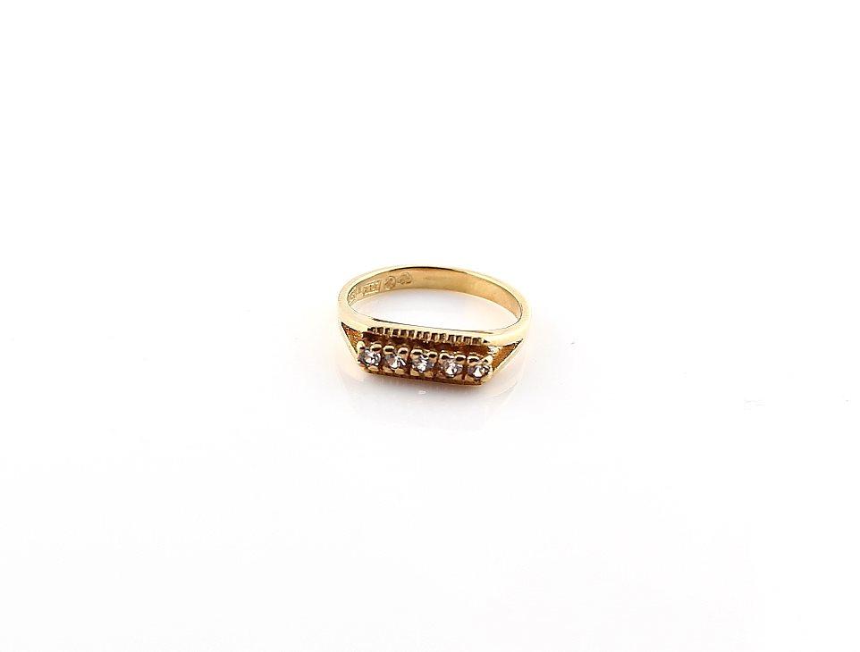 Ring i 18k guld med zirkoner (304612234) ᐈ GuldexpertenMalmö på Tradera 5490ce2a5c07f