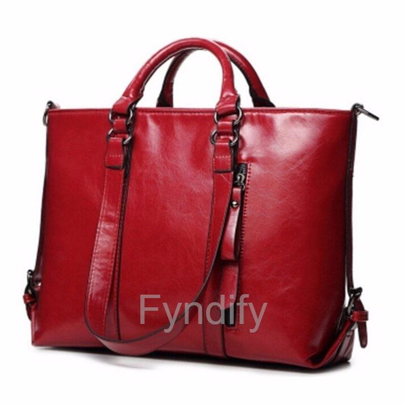 Handväska Läder (PU) Vintage Röd (276714517) ᐈ Fyndify på Tradera b1bf1b38478c6