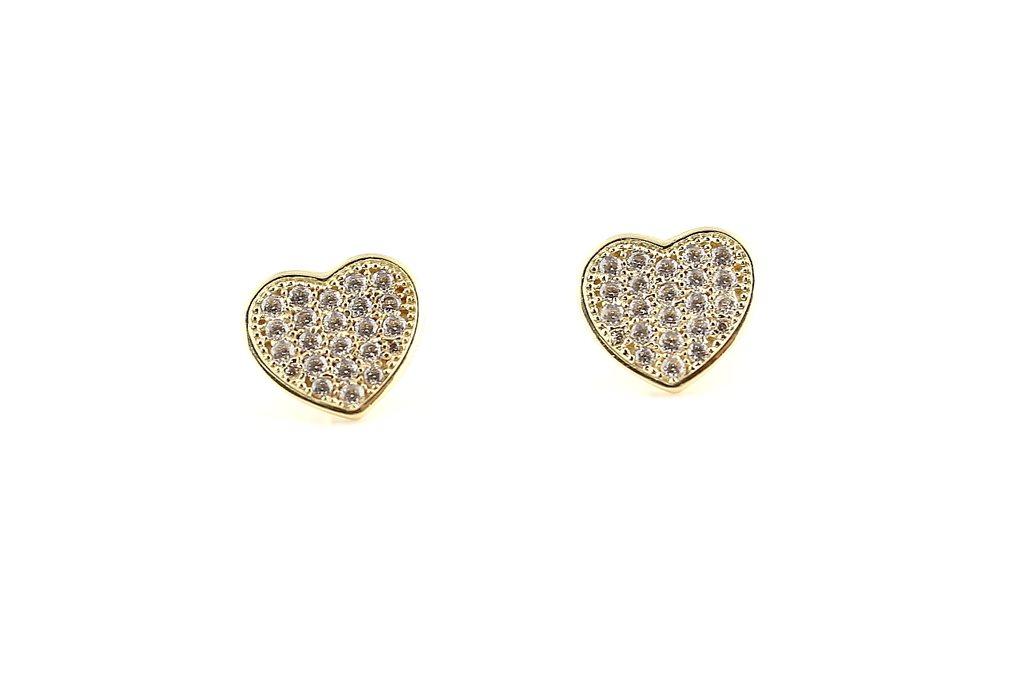 Guldörhängen i form av hjärta .. (318617982) ᐈ GuldexpertenMalmö på ... 259b8ee05fb3c