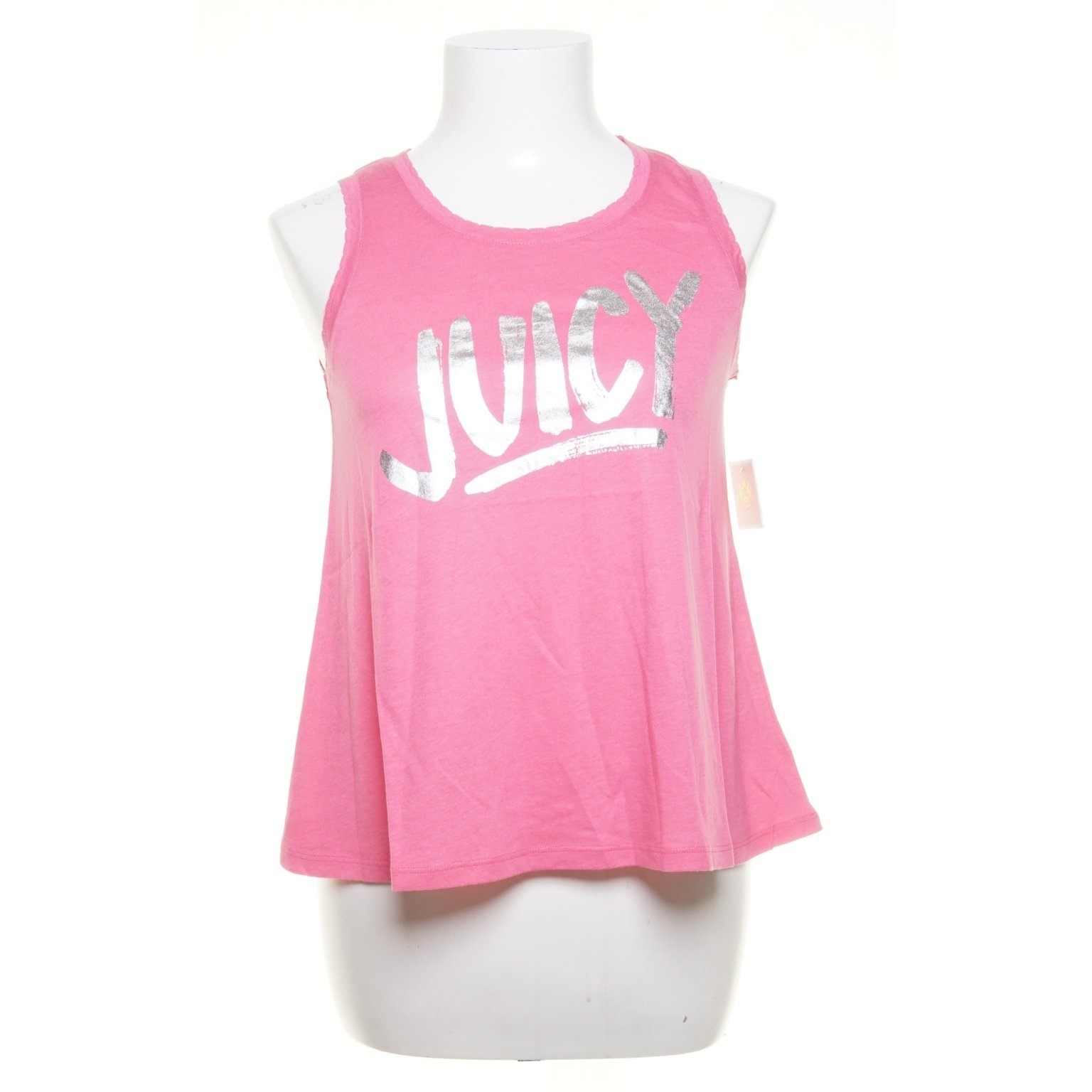 Juicy Couture, Linne, Strl: 122, Highlighter Juicy Tank, Rosa, Bomull/Modal