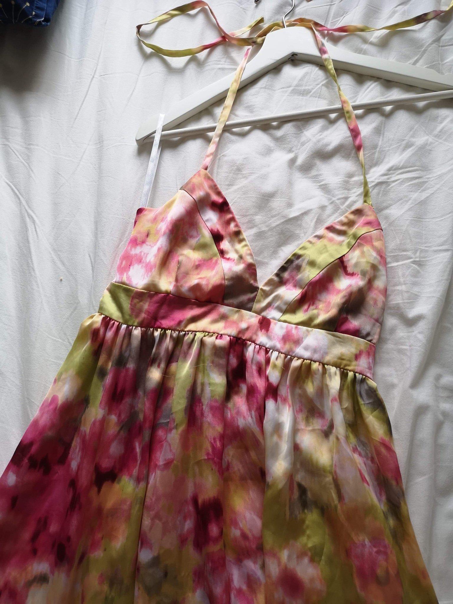 Ombloggad maxiklänning långklänning klänning fr.. (374816404