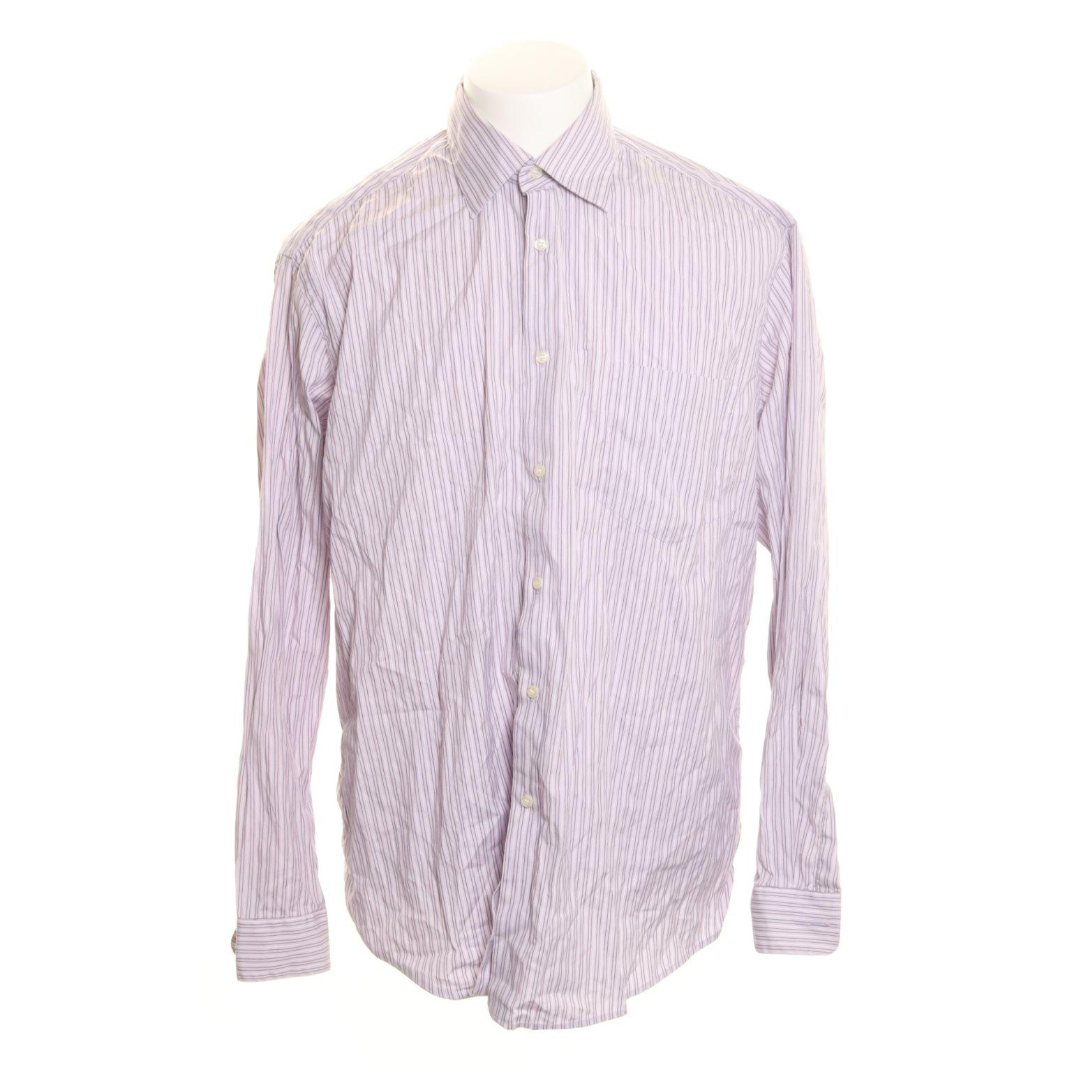 Hugo Boss, Skjorta, Strl: 41, Lavendelfärgad/Vit