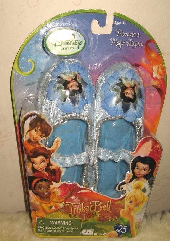 Disney Fairies - Blå Moonstone Magic Slippers Tofflor Skor SISTA