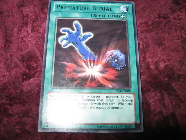 YU-GI-OH PREMATURE BURIAL BP01-EN040 (256825711) ᐈ Köp på Tradera