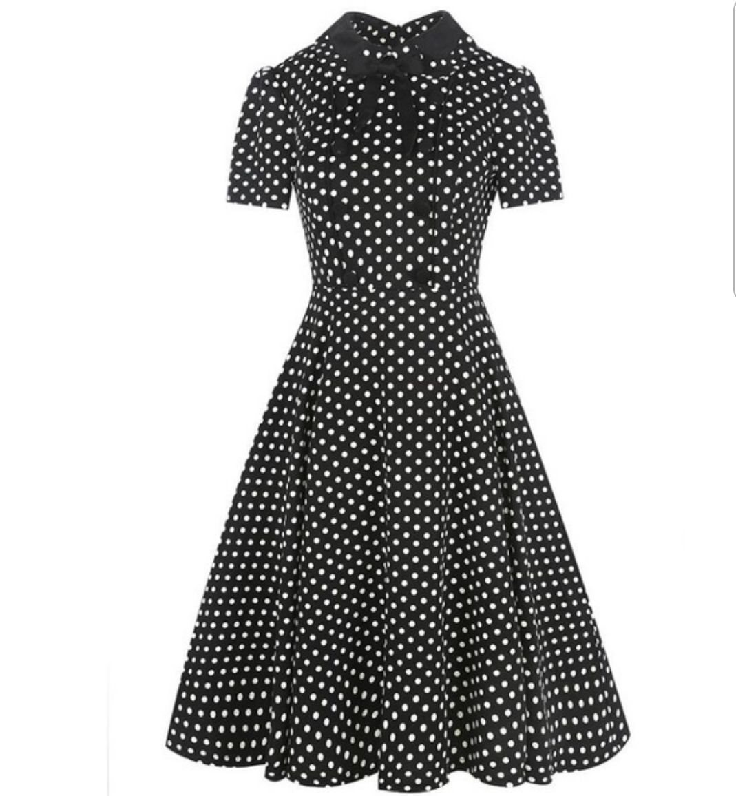 prickig klänning 50 tal rockabilly retro