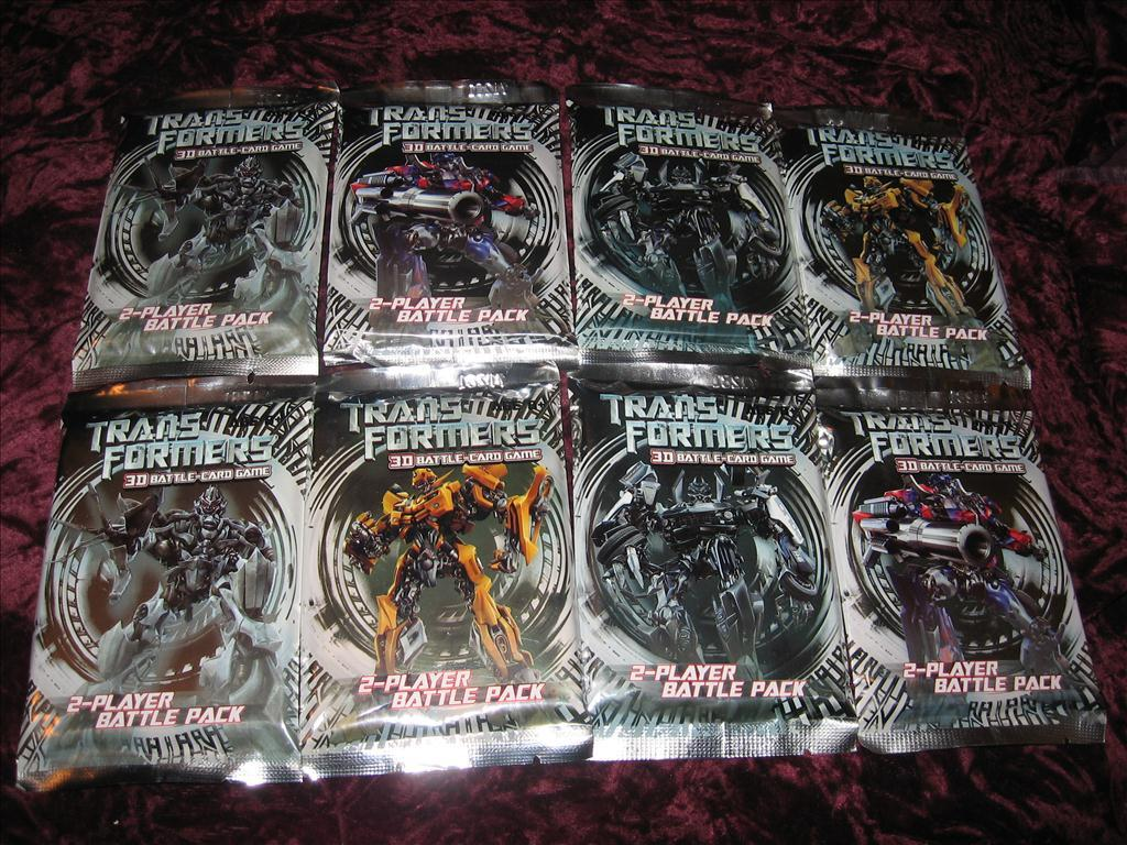8 ST TRANSFORMERS 3D BATTLE CARD GAME 2-PLAYER PACK
