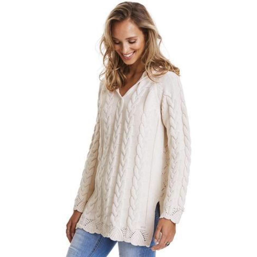 cable hood sweater odd molly